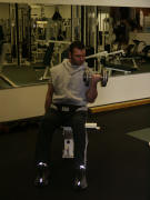 Biceps Strength Training – seated alternating dumbbell curls